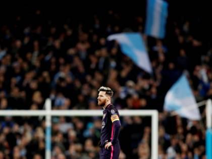 Messi da record in Champions: i giocatori del City lo provocano