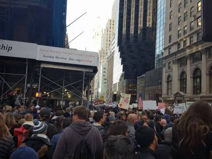 New York, la manifestazione anti-Trump