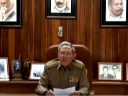 L'annuncio della morte di Castro