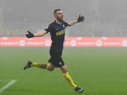 L'Inter respira con Brozovic: la doppietta del croato stende il Genoa