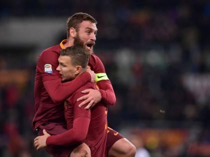 La Roma non molla la Juventus: Dzeko riporta a meno uno i giallorossi