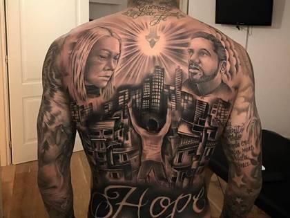 Gabigol esagerato: maxi tatuaggio su tutta la schiena