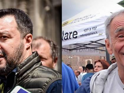 """Migranti, lite Vecchioni-Salvini """"Imbecille"""". """"Facile se sei ricco"""""""