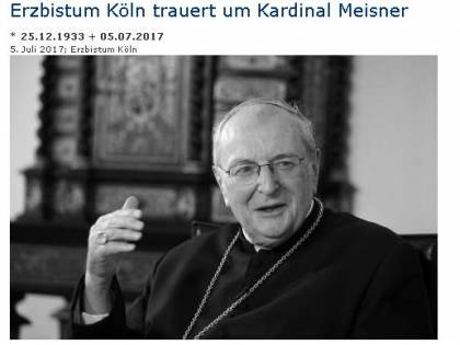 """Muore il cardinale Meisner: firmò i """"dubia"""" sull'Amoris Laetitia"""