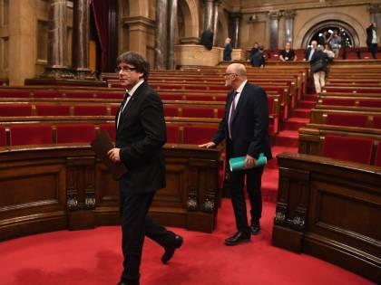 Le fasi del discorso sull'indipendenza di Puigdemont