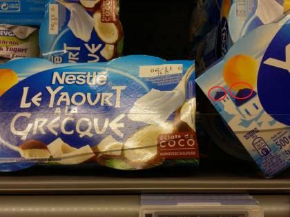 Nestlè cancella le croci dalle confezioni di yogurt