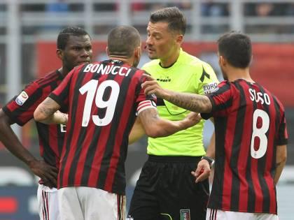 Il Milan non scaccia la crisi: espulso Bonucci con il Var