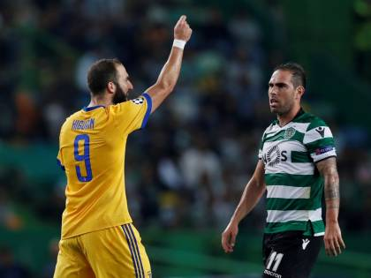 Higuain salva la Juventus in Portogallo: finisce 1-1 in casa dello Sporting
