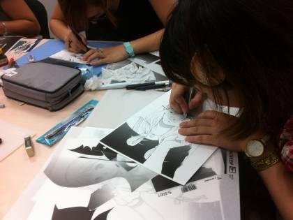 Disegnano il mondo dei manga con le mosse delle arti marziali