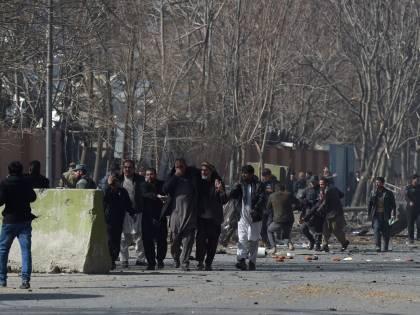 I feriti nell'attentato di Kabul