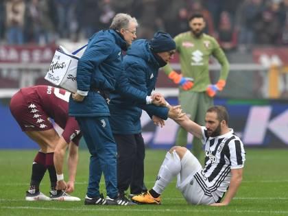 Juventus, doppio infortunio: out Higuain e Bernardeschi