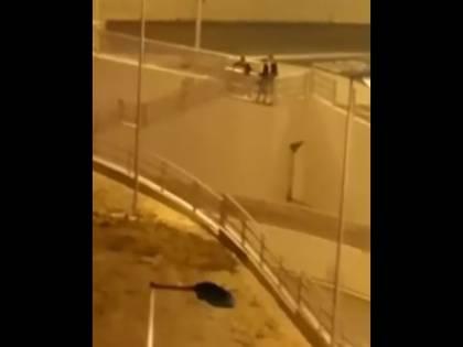 Barletta, cinque giovani lanciano una bicicletta dal cavalcavia