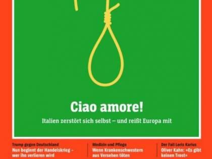 Altro insulto all'Italia da Spiegel Uno spaghetto come un cappio