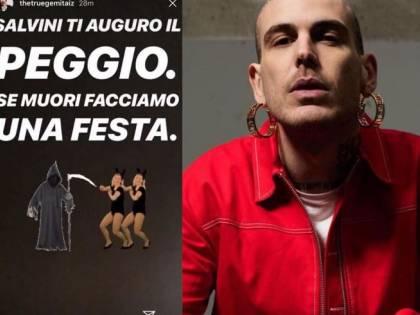 """Gemitaiz attacca Salvini: """"Se muori faccio la festa"""""""
