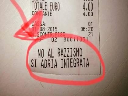 Rovigo, bar dice no a razzismo con uno scontrino speciale pro integrazione