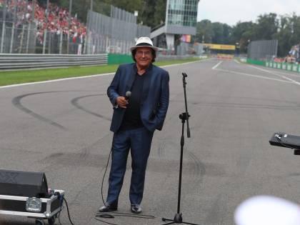 Gb di Monza, Al Bano canta l'inno. Polemica per il dettaglio del cappello