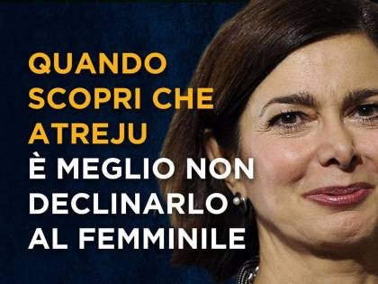 Boldrini, Lerner e Renzi: i cartelloni di Atreju sbertucciano la sinistra
