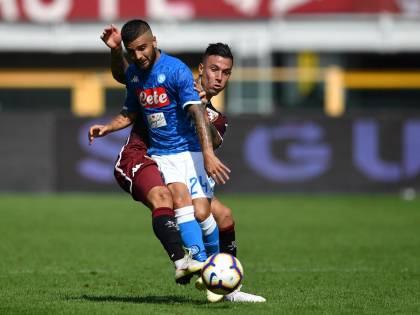 Il Napoli serve il tris al Torino: 1-3 con doppietta di Insigne e gol di Verdi