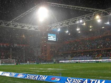 Serie A, Genoa-Udinese e Lazio-Inter a rischio rinvio per maltempo
