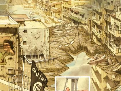Le immagini inedite del fumetto di Biloslavo