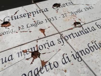 Noli, devastata la targa dedicata a Ghersi, la ragazzina stuprata e uccisa dai partigiani