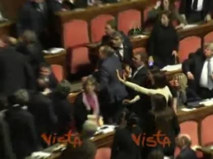 Scontro in aula tra la Ronzulli e i senatori leghisti: i colleghi li separano