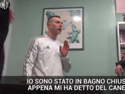 Bernardeschi, niente festa in Supercoppa: chiuso in bagno da Le Iene