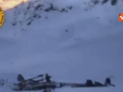 Schianto sul ghiacciaio, le GoPro dell'elicottero riprendono l'incidente