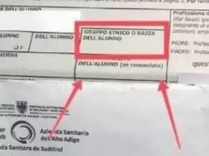 Il questionario Asl chiede la razza dell'alunno: a Bolzano scoppia bufera