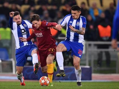 Champions League, la Roma vince 2-1 contro il Porto nel segno di Zaniolo