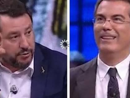 I duelli tra Salvini e Floris nello studio di DiMartedì