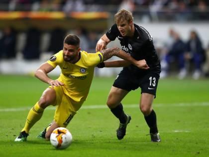 Europa League, il Chelsea pareggia 1-1 a Francoforte. L'Arsenal batte 3-1 il Valencia