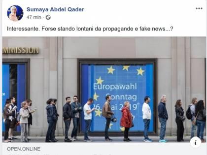 """La consigliera musulmana: """"Senza fake news si vota Pd"""""""