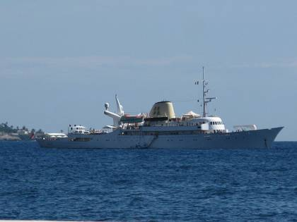 """Castellammare di Stabia, """"Christina O"""" il mega yacht che fu di Onassis"""