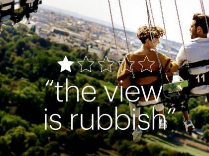 Le recensioni negative usate come spot turistico