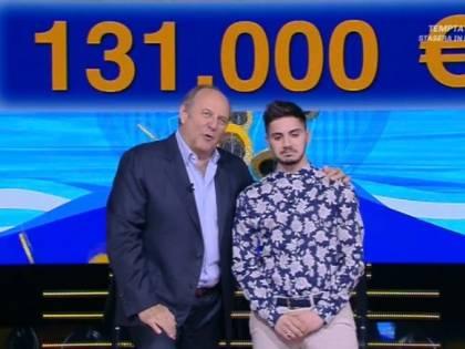 Nicolò, il campione di Caduta Libera, vince altri 131 mila euro