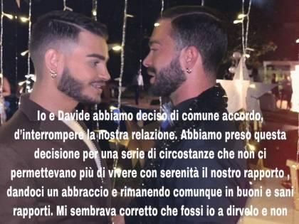 """Cristian Imparato si separa dal suo fidanzato: """"Ti vorrò sempre bene"""""""
