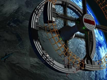Ecco l'albergo spaziale: sembra una ruota