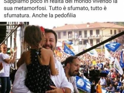 """Il giornalista: """"Salvini con la bimba a Pontida? Pedofilia"""". Poi si scusa"""
