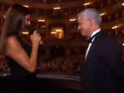 Ilaria D'Amico fa arrabbiare Mourinho: lo Special One abbandona il palco