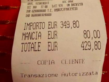 Roma, chiuso, riaperto e multato il ristorante dello scontrino choc