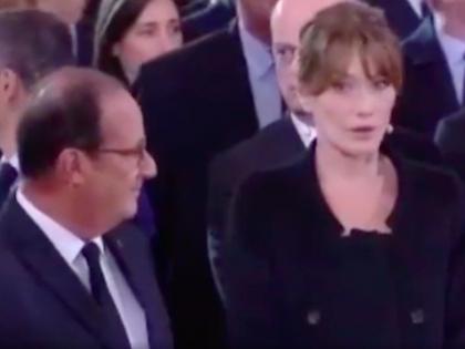 Hollande fa stupire Carla Bruni: cosa le avrà detto?
