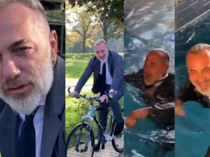 """Gianluca Vacchi senza freni in bicicletta: """"Tuffarsi nell'ignoto fa sentire liberi"""""""