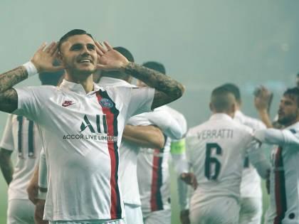 Psg, Icardi non si ferma più: prima doppietta in Champions League