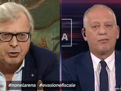 """Scontro Sgarbi-Gomez da Giletti: """"Ipocrita, vai a fare in c…"""""""