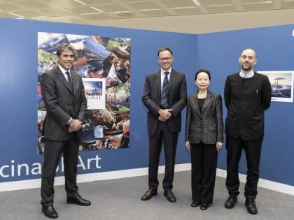 """A Malpensa inaugurata la mostra """"milano In shanghai"""". Brunini: """"Ora accordi per più voli e vettori"""""""