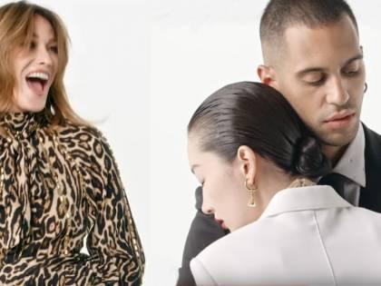 Carla Bruni e Mahmood protagonisti del video delle Feste di Burberry
