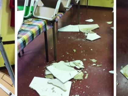 Roma, crolla il controsoffitto nella scuola elementare: paura per i bimbi