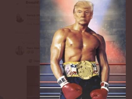 Trump versione Rocky Balboa: il fotomontaggio fa impazzire il web