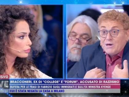 Raffaella Fico e Fabrizio Bracconeri, scontro sul razzismo nel salotto di Live!